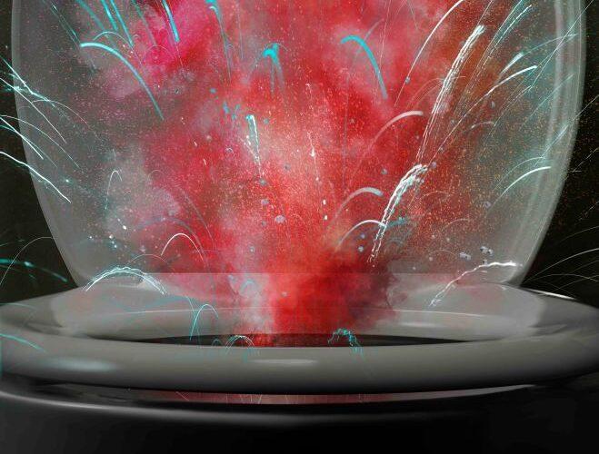 red toilet fireworks