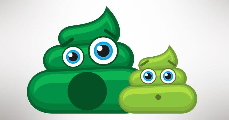 green poop