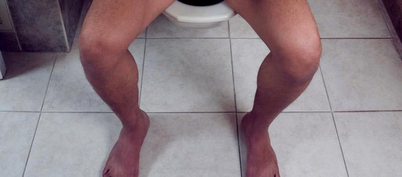 men poop naked
