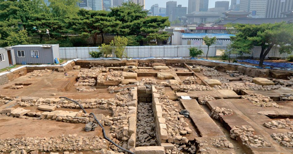 remains of public toilet in Seoul