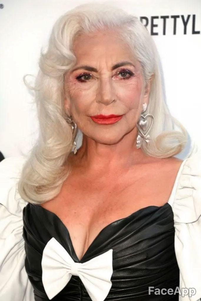 Lady Gaga modificato con FaceApp