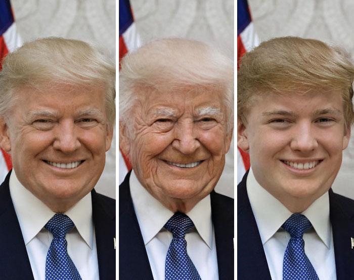 Trump modificato con FaceApp